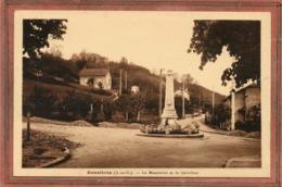 CPA - BONNIERES-sur-SEINE (78) - Aspect Du Monument Aux Morts Dans Le Carrefour-rond-point - Années 30 - Bonnieres Sur Seine