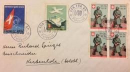 Schweiz Suisse 1940: Brief Mit Diversen SM Mit O GEB.FÜS.KP I/90 + Feldpost + Nach KESTENHOLZ 2.III.40 - Soldaten Briefmarken