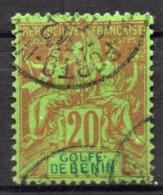 Col17  Colonie Benin N° 26 Oblitéré Porto Novo Rare Cote 65,00€ - Oblitérés