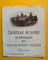 11907 -  Château Ausone 1904 Saint-Emilion - Bordeaux