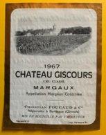 11908 -  Château Giscours 1967 Margaux - Bordeaux