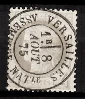 France Maury N° 52 (YT N° 51) Superbe Oblitération Cad Assemblée Nationale. Rare Et TB. A Saisir! - 1871-1875 Ceres