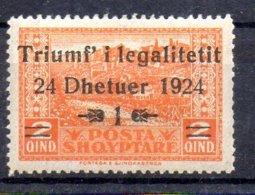 Albania Sello Nº Yvert 144 * Valor Catálogo 6.0€ - Albania