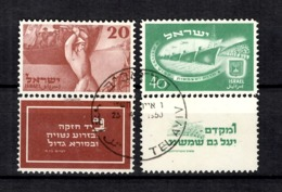 Israël YT N° 29/30 Oblitérés Avec Tabs. B/TB. A Saisir! - Israel