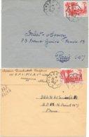 2 Enveloppes Convoyeur Tanger à Fez 1948 - Cartas