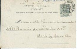 Fantasiekaart  Met OCB 53 - Afstempeling ARLON-BRUXELLES 2 - COBA 4 - 1893-1907 Wappen