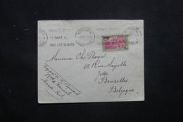 MONACO - Enveloppe Pour Bruxelles En 1934, Affranchissement Plaisant P.A. - L 43514 - Monaco
