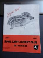 8) RIVISTA ROYAL SAINT HUBERT CLUB DE BELGIQUE CACCIA 1967 N°12 - Fischen + Jagen