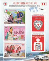 NORTH KOREA - COREA DEL NORTE - 2011 International Year Of Volunteers - HIV AIDS - Minisheet - Corea Del Norte