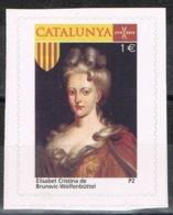 Viñeta CATALUNYA 1 Euros 2014, Elisabeth Cristina De Brunswich, Emperatriz Carlos VI, Label, Cinderella ** - Variedades & Curiosidades