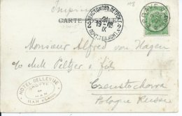 Fantasiekaart  Met OCB 56 - Afstempeling EPRAVE - COBA 4 - 1893-1907 Wappen