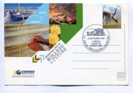 ARGENTINA - BOLIVIA, MIRANDO AL FUTURO. 2005 - ARGENTINE FDC ENTIER ENTERO ENTIRE -LILHU - Interi Postali
