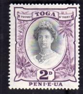 TONGA TOGA 1920 1935 QUEEN SALOTE REGINA PENCE 2p MNH - Tonga (1970-...)