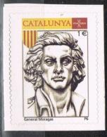 Viñeta CATALUNYA 1 Euros 2014, General MORAGAS. Militar Guerra Secesion, Label, Cinderella ** - Variedades & Curiosidades