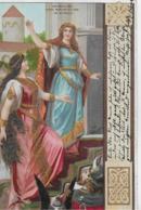 AK 0334  Krimhilde Und Brunhilde Im Streit / Nibelungen Sage - Glitzerkarte Um 1900 - Märchen, Sagen & Legenden