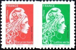 Autoadhésif(s) De France N° 1653_P ** Marianne De L'engagé - Paire De Carnet Composé - France