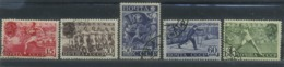 USSR 1940 Michel 753A-757A Perf. 12 1/2 All-Union Physical Culture Complex. Used - 1923-1991 URSS