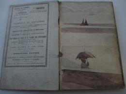 Superbe CARNET Contenant + De 150 Dessins Croquis Aquarelles études_artiste Peintre A Identifier_ Epoque Fin XIX - Vieux Papiers