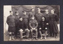 Carte Photo  Guerre 14-18 Camp Stendal Lager POW Groupe Prisonniers De Guerre Archives Don Davis British Prisoner Kilt - Guerre 1914-18