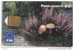 FINLAND - Mushrooms, FIN Telecard 6 Euro, Tirage 75000, 08/03, Used - Finnland