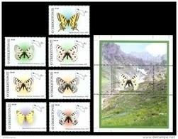 Uzbekistan 2006 Mih. 628/34 + 635 (Bl.43) Fauna. Butterflies MNH ** - Uzbekistan