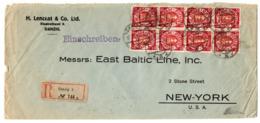 Dantzig Belle Lettre Recommandée De 1924 Pour New-York. B/TB. A Saisir! - Danzig