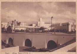 CARTOLINA - LIBIA - TRIPOLI - ALBERGO MEKARI ( E.T.A.L.) VIAGGIATA PER MILANO - Libya