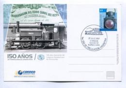 150 AÑOS DE FERROCARRILES ARGENTINOS - ARGENTINE 2007 FDC ENTIER ENTERO ENTIRE - LILHU - Eisenbahnen