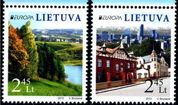 2012 EUROPA CEPT LITUANIA**  Set 2 Stamps - 2012