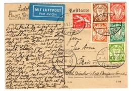 Dantzig Belle Carte De 1938 Pour Paris. Affranchissement Composé. B/TB. A Saisir! - Danzig