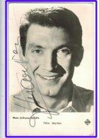 23459 CPA  FELIX MARTEN ! Chanteur , Acteur Et Réalisateur ! 1919 /1992 Autographe !! Carte Photo !! - Singers & Musicians