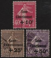 ~~~ France 1930 - Caisse D'Amortissement - Yv. 266/268 -  CV 150.00 Euro ~~~ - France