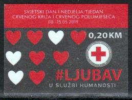 Bosnia And Herzegovina 2019 Red Cross Tax Charity Surcharge Selfadhesive MNH - Bosnia And Herzegovina