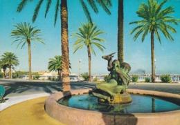 CARTOLINA - LIBIA - TRIPOLI - GAZELLA FOUNTAIN -  VIAGGIATA PER VARESE ( ITALY) - Libya