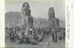 Tableaux -ref B765-arts -tableau- Peinture -salon -peintre Maurice Orange -egypte - Egypt -colosses De Memnon - - Non Classificati