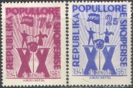 3355 Flags Arms Communism Socialism 1961 Albania 2v Set MNH ** 2,5ME - Albania