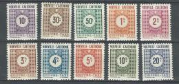 "Nle-Caledonie Taxe YT 39 à 48 "" Chiffre-Taxe "" 1948 Neuf* - Portomarken"