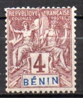 Col17  Colonie Benin N° 35 Neuf X MH  Cote 5,50€ - Unused Stamps