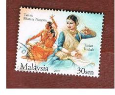 MALESIA (MALAYSIA)  -  SG 1255 -   2004  DANCE: BHARATA  NATYAM   -  USED ° - Malesia (1964-...)