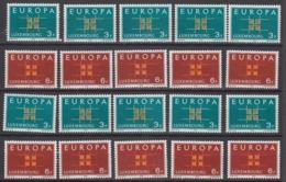 Europa Cept 1963 Luxemburg 2v (10x) ** Mnh (44940) - Europa-CEPT