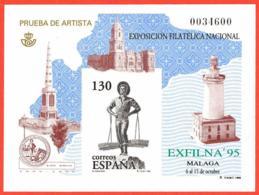 España. Spain. 1995. PO. EXFILNA '95. Exposicion Filatelica Nacional. Malaga. El Cenachero - Exposiciones Filatélicas
