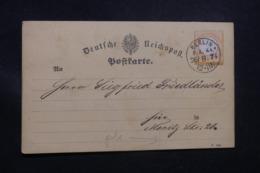 ALLEMAGNE - Carte De Correspondance De Berlin En 1874, Affranchissement Plaisant - L 43535 - Allemagne