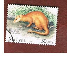 MALESIA (MALAYSIA)  -  SG 1282  -   2004  ANIMALS: MUSTELA NUDIPES  -  USED ° - Malesia (1964-...)