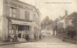 - Essonne -ref-A799- Epinay Sous Sénart -rue De La Forêt - Au Rendez Vous Des Pêcheurs - Maison Perrotin - Café Tabac - - Epinay Sous Senart