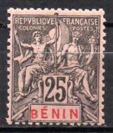 Col17  Colonie Benin N° 40 Neuf X MH  Cote 20,00€ - Unused Stamps