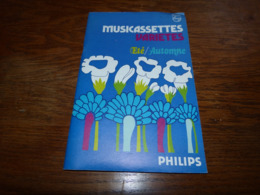 Catalogue Philips Musicassettes K7 Jacques Brel Status QUo Claude François Johnny Hallyday Genesis Etc Etc - Musique