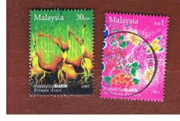MALESIA (MALAYSIA)  -  SG 1304.1306  -   2004  BATIK  -  USED ° - Malesia (1964-...)