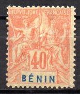 Col17  Colonie Benin N° 42 Neuf X MH  Cote 30,00€ - Unused Stamps