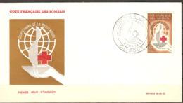 FDC Enveloppe Premier Jour Cote Française Des Somalis Croix Rouge ( DJIBOUTI  ) Timbre 315 - Côte Française Des Somalis (1894-1967)