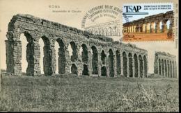 47974 Italia Maximum 2019 Archeological Roman Aqueduct Of Claudius,roma,roman Aqueduc Claudius,vintage Card - Cartas Máxima